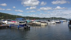 Otsego Lake in Historic Cooperstown, New York, United States. Stock Footage