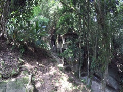 Abandoned houses Buddhist monks Stock Footage
