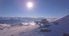Plaine Morte Up - Aerial 4K Stock Footage