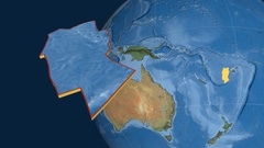 Conway Reef tectonic plate. Satellite imagery Stock Footage