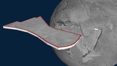 Futuna tectonic plate. Elevation Stock Footage