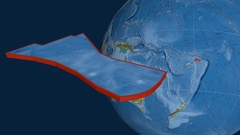 Futuna tectonic plate. Relief Stock Footage