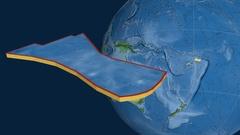 Futuna tectonic plate. Natural Earth Stock Footage
