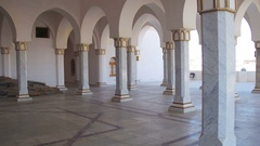 Columns Muslim Mosques in Egypt Stock Footage