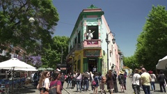 Caminito in Buenos Aires Stock Footage