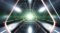 4K VJ Triangular 3D Tunnel Stock Footage