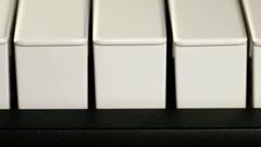 Piano keyboard close up Stock Footage