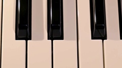 Piano keyboard close up Stock Footage