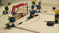 Goal ice hockey table game Stock Footage