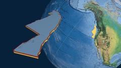 Juan De Fuca tectonic plate. Natural Earth Stock Footage