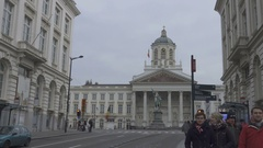 BRUSSELS, BELGIUM – Place Royale Stock Footage