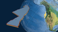 Juan De Fuca tectonic plate. Topography Stock Footage