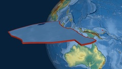 Manus tectonic plate. Relief Stock Footage