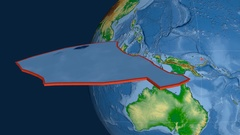 Manus tectonic plate. Physical Stock Footage