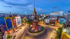 Bangkok Thailand Chinatown Stock Footage