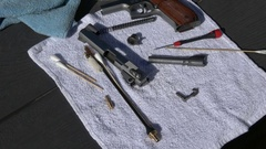 Clean 1911 Pistol Barrel Stock Footage