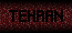 Tehran text on hex code illustration Stock Illustration