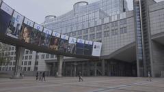 BRUSSELS, BELGIUM – European Parliament, Inside Stock Footage
