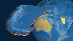 New Hebrides tectonic plate. Natural Earth Stock Footage