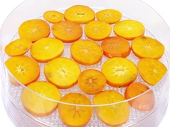 Time-lapse of drying persimmon, 4K format Stock Footage