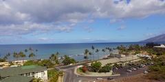 Tropical Town Aerial View. Kihei, Cove Park, and Kalama Park. Jib Up - Aerial. Stock Footage