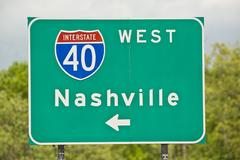 Nashville Tennessee Road Sign Stock Photos