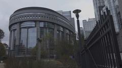 BRUSSELS, BELGIUM – European Parliament Stock Footage