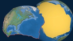 North America tectonic plate. Satellite imagery Stock Footage