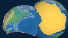 North America tectonic plate. Natural Earth Stock Footage