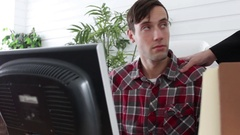 Man berates employee for terrible work ethic and performance Stock Footage
