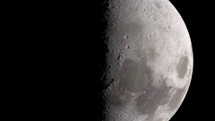 Moon (Lunar) slow rotation and zoom out Stock Footage
