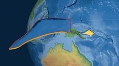 Solomon Sea tectonic plate. Natural Earth Stock Footage