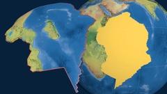 Somalia tectonic plate. Topography Stock Footage