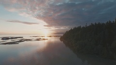 Drone Aerial over Vancouver Coastal Waters Stock Footage