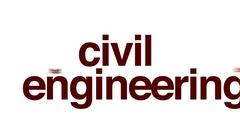 Civil engineering animated word cloud. Stock Footage
