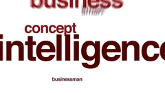 Intelligence animated word cloud. Stock Footage