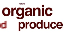 Organic produce animated word cloud. Stock Footage