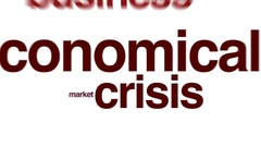 Economical crisis animated word cloud. Stock Footage