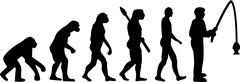 Fishing Evolution Stock Illustration