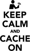 Keep calm and cache on Stock Illustration