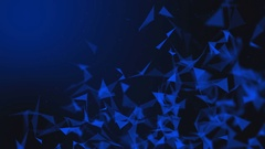 Futuristic Blue Triangle Motion Background with Depth of Field Stock Footage