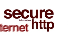 Secure HTTP animated word cloud. Stock Footage