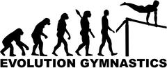 Evolution gymnastics high bar Stock Illustration