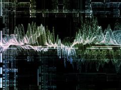 Virtual Wave Virtual Grid. Stock Illustration