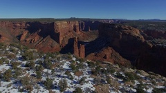 CANYON DE CHELLY AERIAL FLYING OVER LANDSCAPE Stock Footage