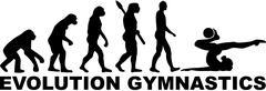 Evolution gymnastics woman with ball Stock Illustration