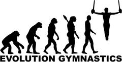 Evolution gymnastics with rings Stock Illustration