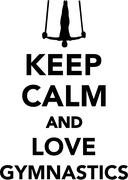 Keep calm and love gymnastics Stock Illustration