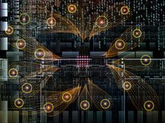 Energy of Technology Links Stock Illustration