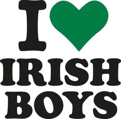 I love irish boys with green heart Stock Illustration